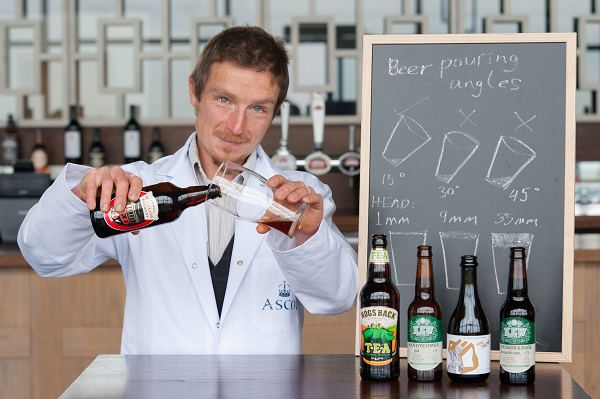 Investigating the science of the perfect beer pouring angle